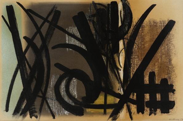 "<span class=""artist""><strong>Hans Hartung</strong></span>, <span class=""title""><em>Composition</em>, 1952</span>"