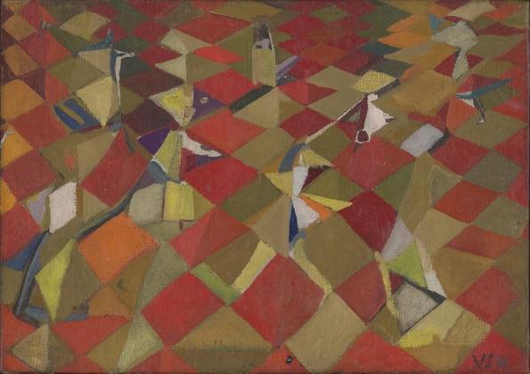 "<span class=""artist""><strong>Maria Helena Vieira da Silva</strong></span>, <span class=""title""><em>Les figurants</em>, 1948</span>"
