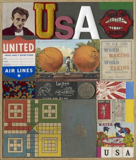 "<span class=""artist""><strong>Peter Blake</strong></span>, <span class=""title""><em>U.S.A. 4</em>, 2013</span>"