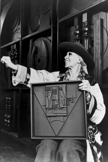 """<span class=""""artist""""><strong>Louise Nevelson</strong></span>, <span class=""""title""""><em>Portrait of the artist, 1968.</em></span>"""