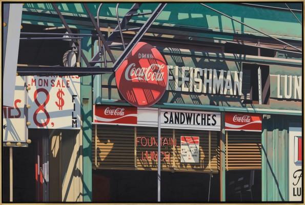 """<span class=""""artist""""><strong>Robert Cottingham</strong></span>, <span class=""""title""""><em>Fleishman</em>, 1982</span>"""