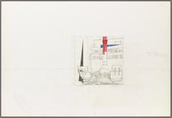 <strong>Patrick Caulfield</strong>, <em>Study for 'In My Room'</em>, c.1974