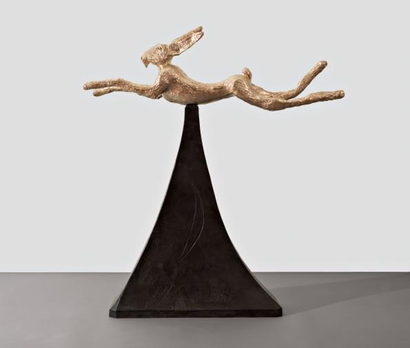 "<span class=""artist""><strong>Barry Flanagan</strong></span>, <span class=""title""><em>Moon Gold Hare</em>, 2008</span>"