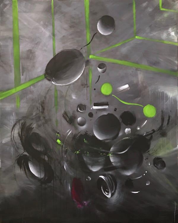 Petra von Kazinyan Das Grüne Zimmer (The Green Room), 2018 Acrylic on canvas This artworks is already framed 150cm x 120cm