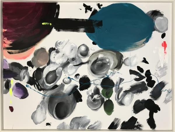 Petra von Kazinyan Venus, Mars und Ich (Venus, Mars and me), 2018 Acrylic on canvas This artworks is already framed 47 1/2 x 63 in 120 x 160 cm