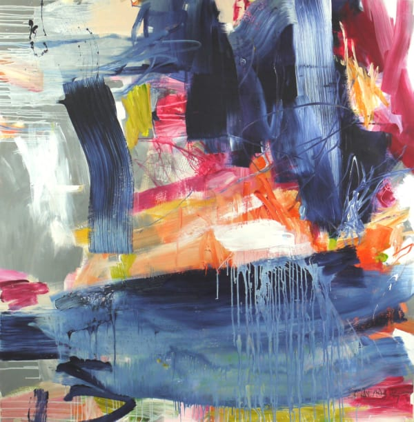 Daniela Schweinsberg Falling Into Blue, 2019 Acrylic / mixed media on paper 156 x 152 cm 61 1/2 x 60 in