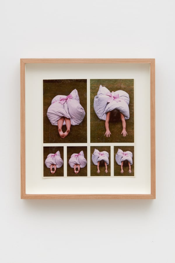 Rose ENGLISH 1950-Baroque Harriet study (feather mattress), 1973 Set of 6 c-prints collaged on paper 18.5 x 18 cm