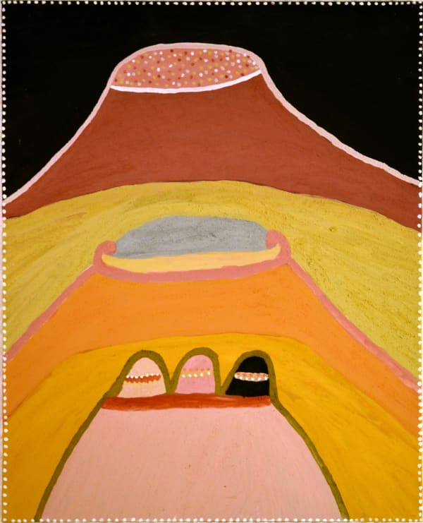 Betty Carrington Ngarrgooroon Country natural ochre and pigments on canvas 100 x 80 cm