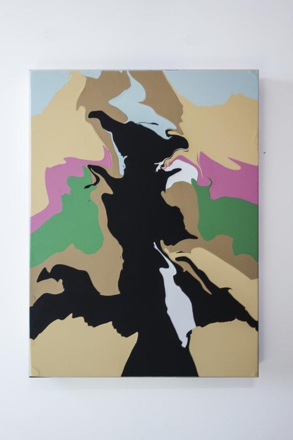 David Donald Sutherland Iris, 2018 Acrylic Resin on Canvas 36 x 48 in 91.4 x 121.9 cm