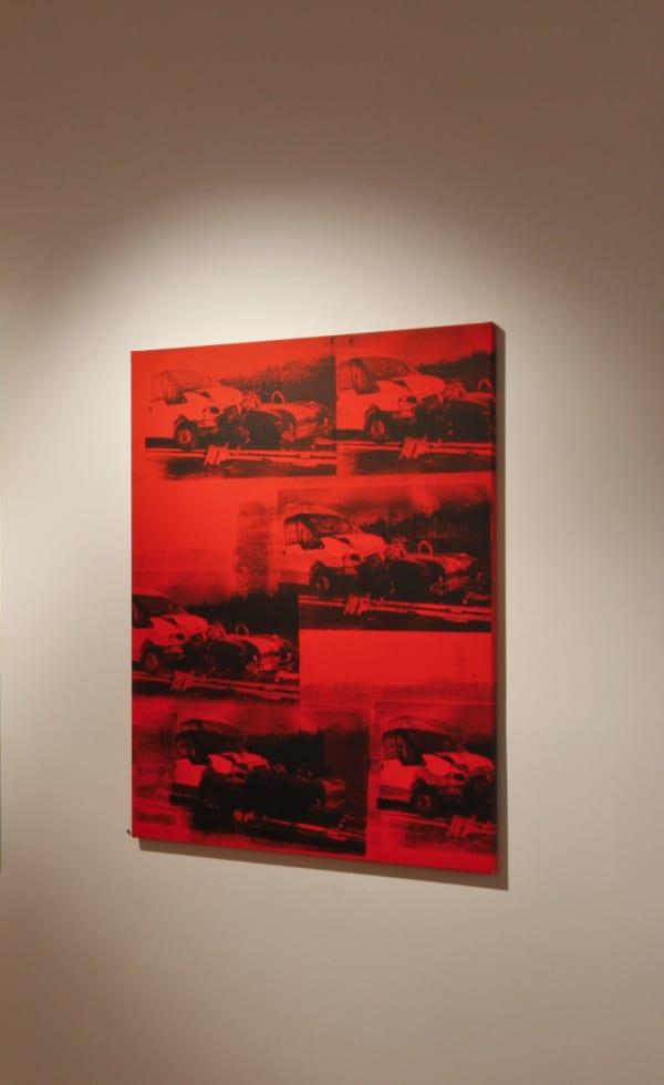 Gavin TURK, Transit VS Cobra Disaster Red, 2011