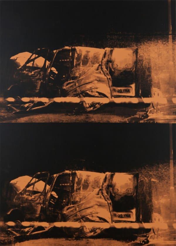 Gavin TURK, Double Transit Disaster Orange, 2011