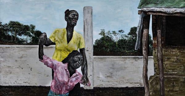 Ronald OPHUIS, Gacaca. Two women witnessing during the trial. Rwanda, 2013