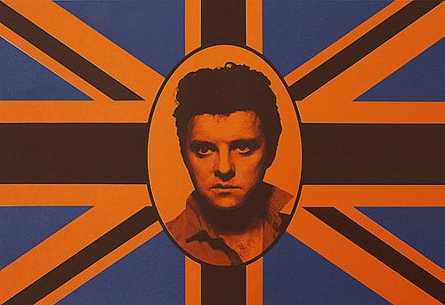 Gavin TURK, Elvis Union Brown on Orange, 2008