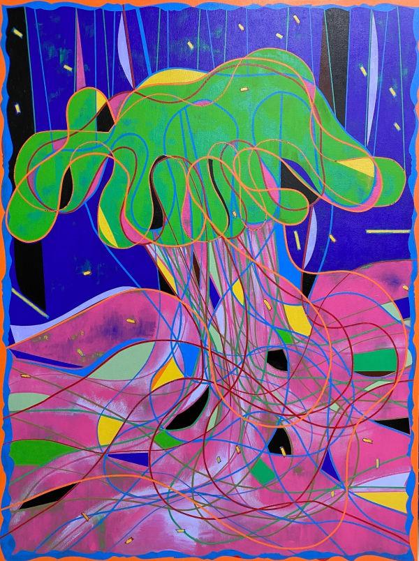 fairy tale, Jerry LEE, acrylic painting, abstract art, abstract painting, contemporary painting, color painting, line painting, shape painting, art design, art decoration, interior design, salon decoration, desk decoration, art home, art thema heyi, brussels art gallery