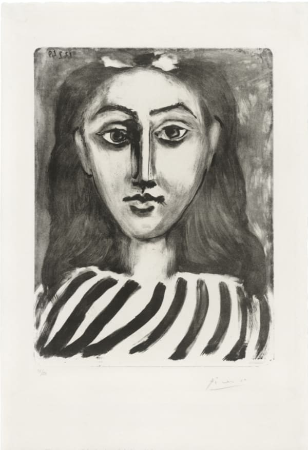 Pablo Picasso, Tête de jeune fille, 1949