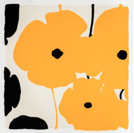 Donald Sultan, Yellow and Black Poppies Feb 3, 2020, 2020