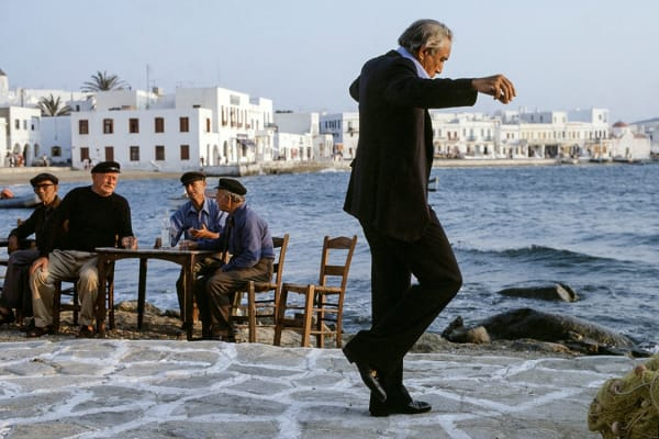 Eva Sereny, Anthony Quinn on the film set of 'The Greek Tycoon', 1978.