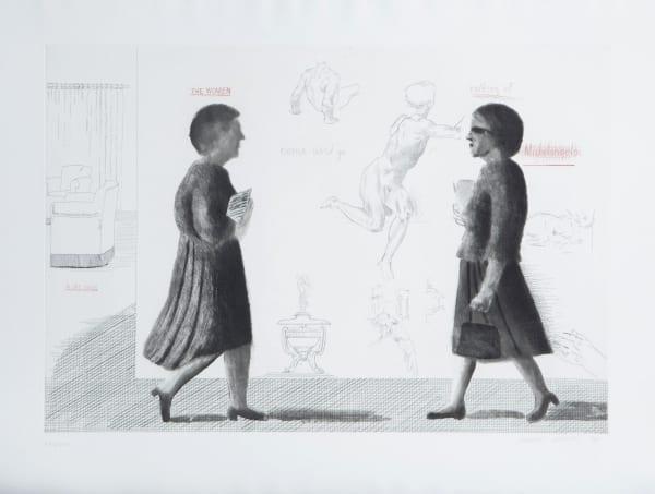David Hockney, Omaggio a Michelangelo, 1975