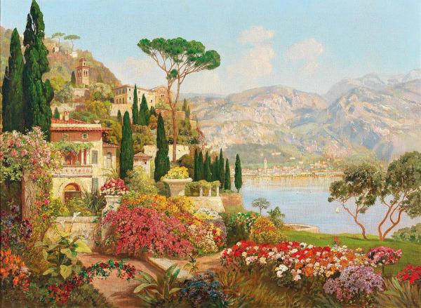 Alois Arnegger, Scene on Lake Garda
