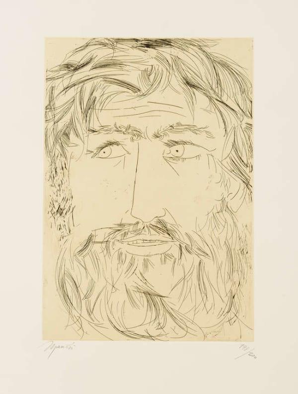 Giacomo Manzù, Omaggio a Michelangelo, 1975