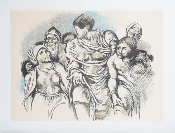 Renato Guttuso, Omaggio a Michelangelo, 1975