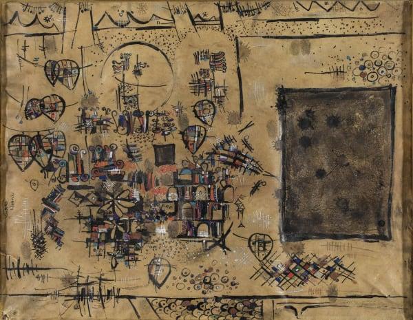 Sadegh Tabrizi - Parchment of Kaaba, ND Circa 1960