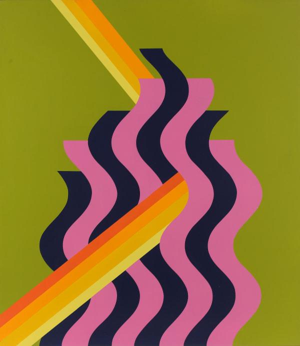 Mohamed Melehi - Pink Flame, 1972
