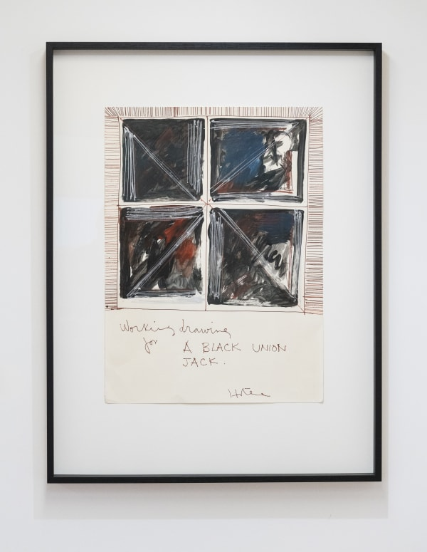Ralph Hotere, Working drawing for A BLACK UNION JACK, c1980