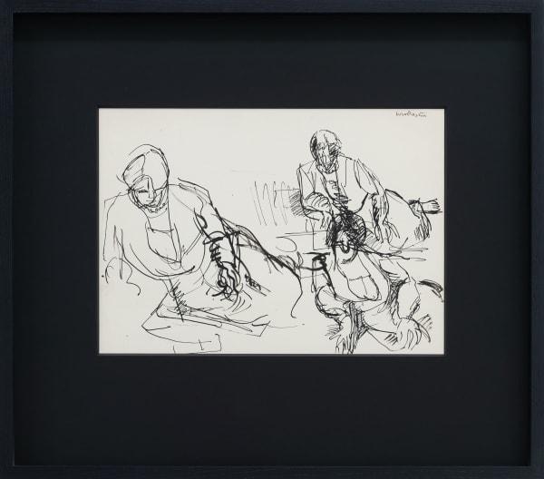 Mountford Tosswill Woollaston, Enfys Graham (three seated figures on floor), c1957