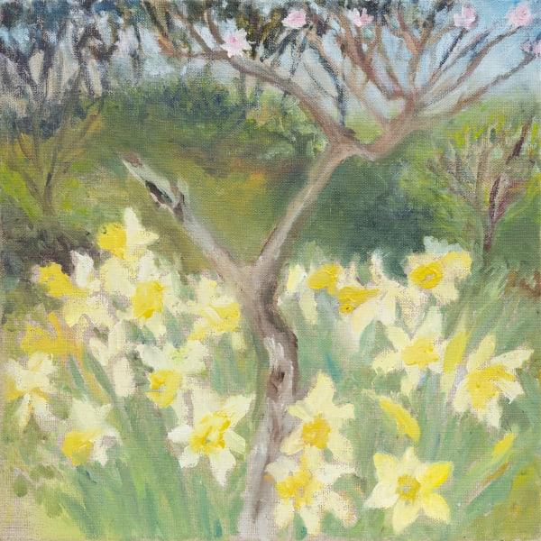 Star GOSSAGE, Peach Tree with the Daffodils, 2020