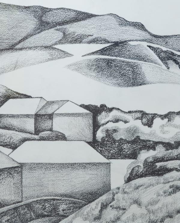 Robin WHITE, Houses and Hills, Porirua, 1970