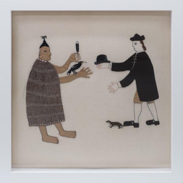Sarah Munro, Trade Items: Bowler Hat, Stoat, Huia, 2018