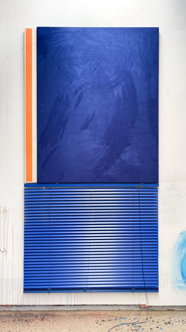 Ed Bats, Blind (Blue and orange) , 2020