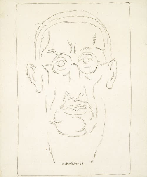 Horace Brodzky, Self-Portrait, 1963