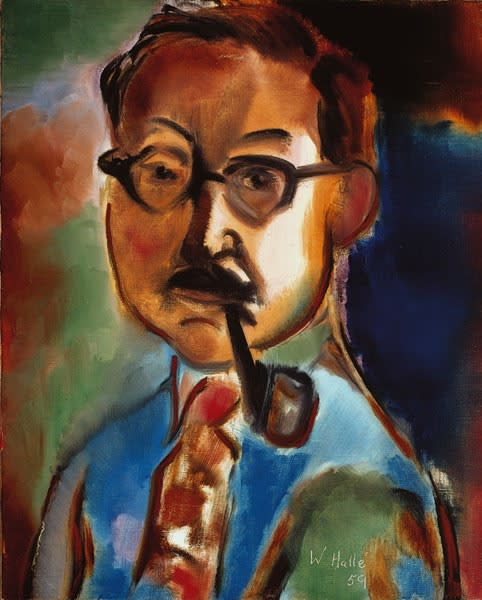William Hallé, Self-Portrait, 1959