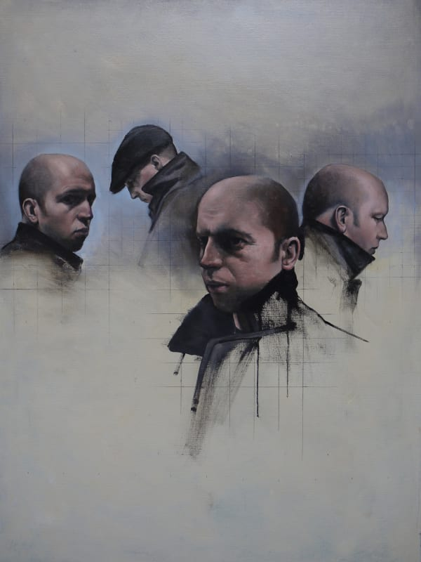 Christopher Thompson, Four Studies for a Self-Portrait, 2015