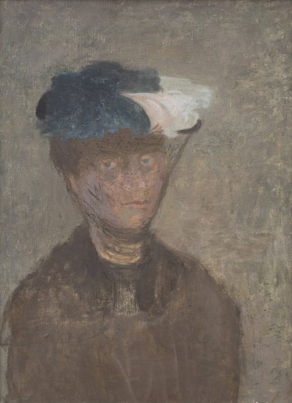Mary Potter, Self-Portrait in Hat, 1953