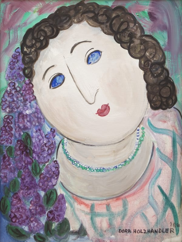 Dora Holzhandler, Self-Portrait, c.1988-90