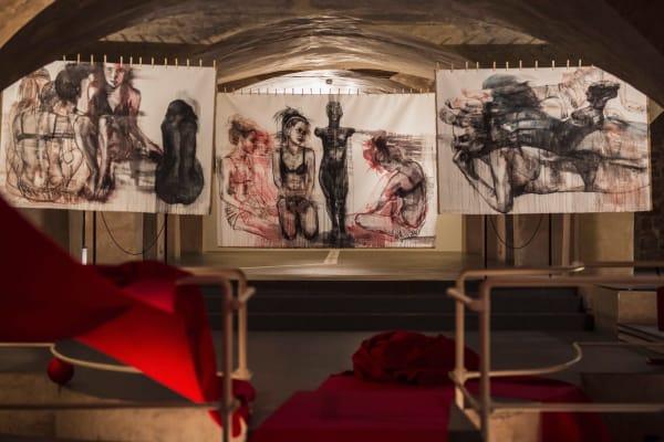 Художница Ирина Дрозд на выставке «Accents / Accenti / Акценты» во Флоренции