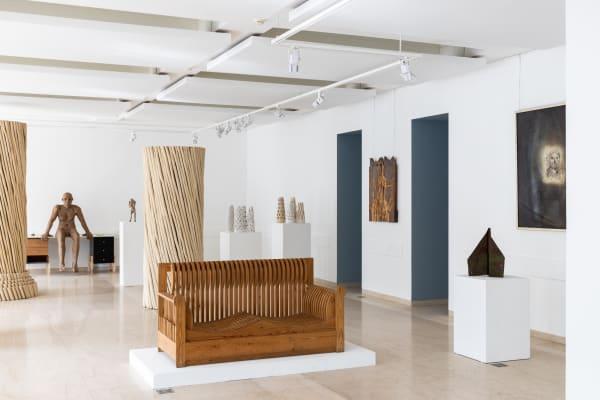 Хаим Сокол, Нестор Энгельке и Андрей Кузькин на выставке в галерее «Эритаж»