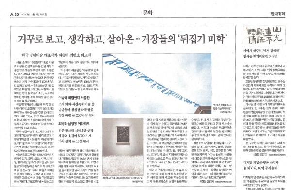 [Press_Hankyung] CHOI Byungso: Topsy-Turvy Ways of Seeing, Thinking, and Living ... 'The Art of Flipping Perspectives'