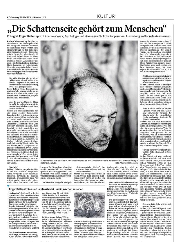 Aachener Zeitung, 26.5.2018, AZ #120