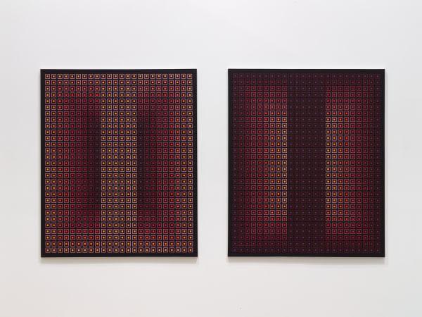 Julian Stanczak, Opposing Pair I & II, 1983