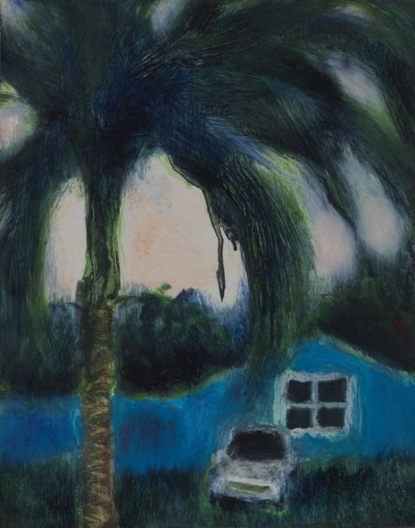 Suzy Murphy 'Under my Tree', oil on board, 2020