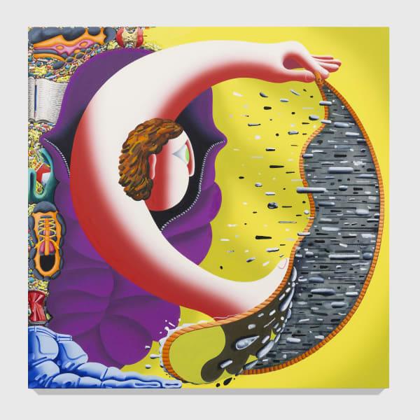 Eleanor Swordy, Hard Rain, 2020. Oil on canvas 60 x 60 in 152.4 x 152.4 cm