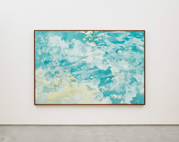 Jay Heikes Second Wave, 2020 Oil on stained canvas 77 x 114 inches 195.6 x 289.6 cm