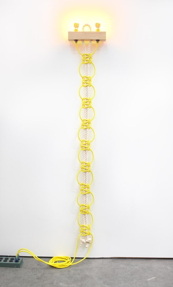 Dana Hemenway – All That Glows Sees Saturday (Untitled (Yellow Extension Cords, Ropes)