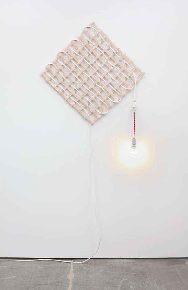 ana Hemenway, 'Untitled (Cord Grid),' 2015. (Courtesy of the artist and Eleanor Harwood Gallery)