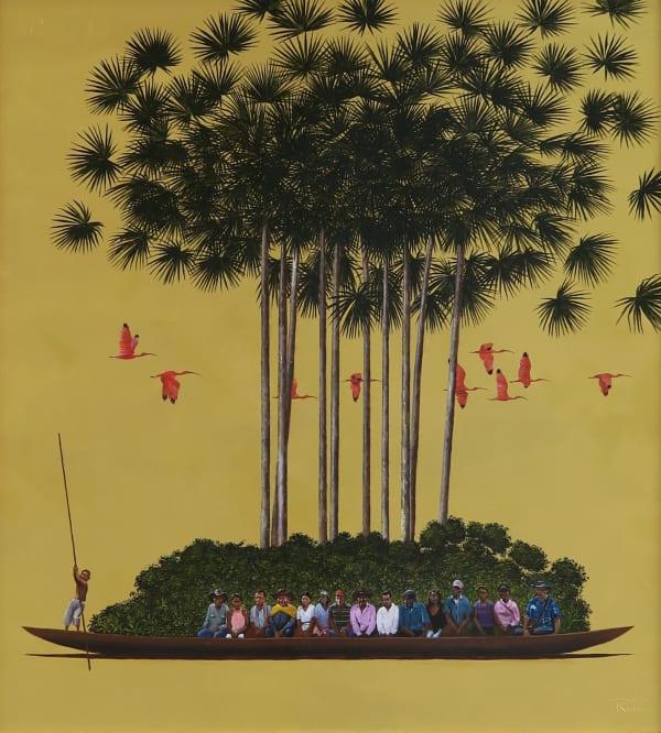 Pedro Ruiz, Natural Richness, 2020, acrylic on canvas, 88 × 80 cm.