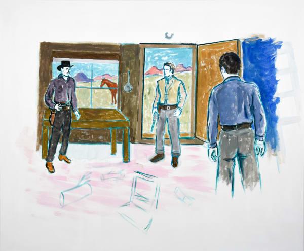 "Pink Cabin, 2018, Linda Blackburn, Acrylic on canvas, 50 x 60"""
